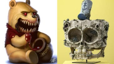 Beloved cartoon characters transformed into nightmares 15