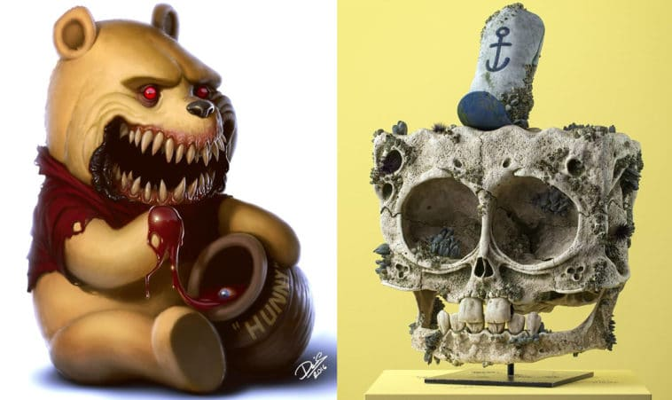 Beloved cartoon characters transformed into nightmares 12