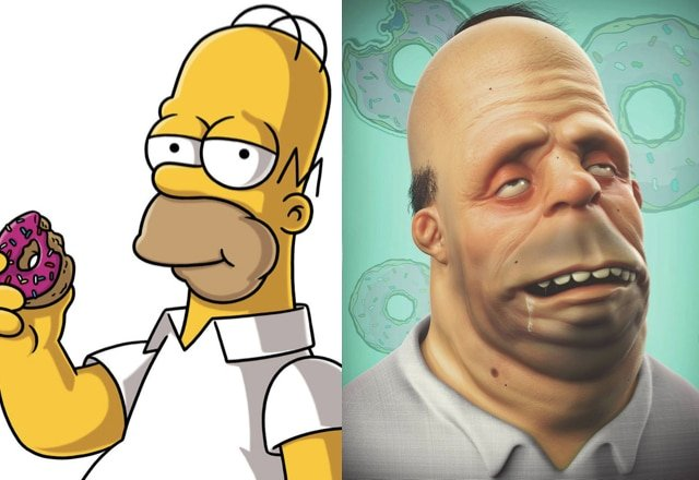 What cartoon characters would look like in real life 21
