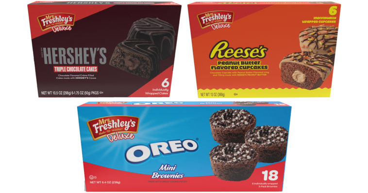 Mrs. Freshley's partners with Hershey's, Reese's, and Oreo for three new treats 11