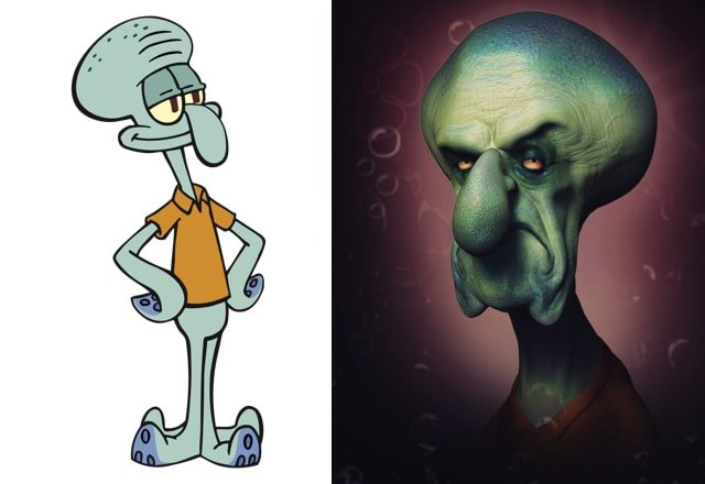 What cartoon characters would look like in real life 12