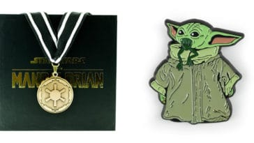 The Mandalorian cog necklace and Baby Yoda enamel pin are now available at Toynk 11