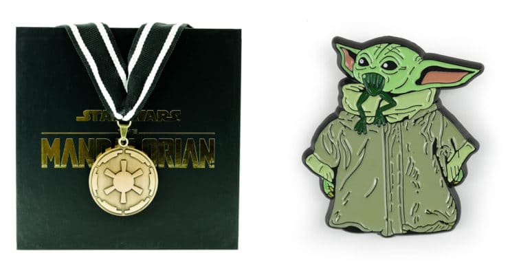 The Mandalorian cog necklace and Baby Yoda enamel pin are now available at Toynk 14