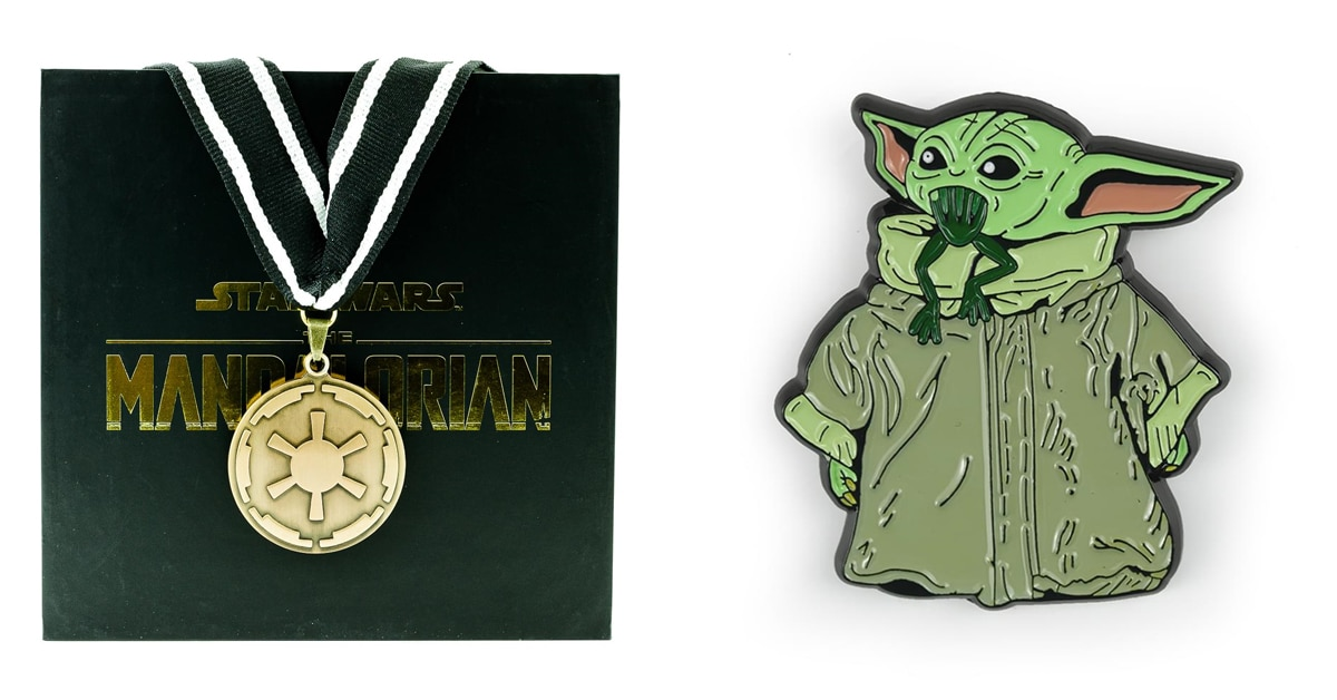 The Mandalorian cog necklace and Baby Yoda enamel pin are now available at Toynk 20