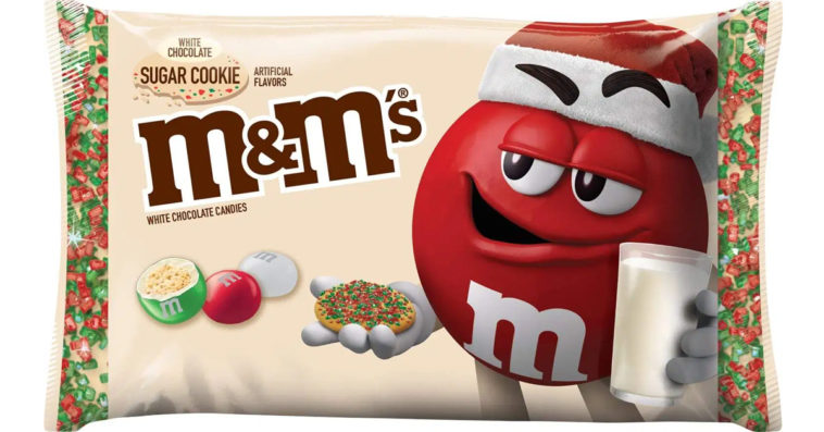 M&M's is releasing a white chocolate sugar cookie flavor for the holiday season 15