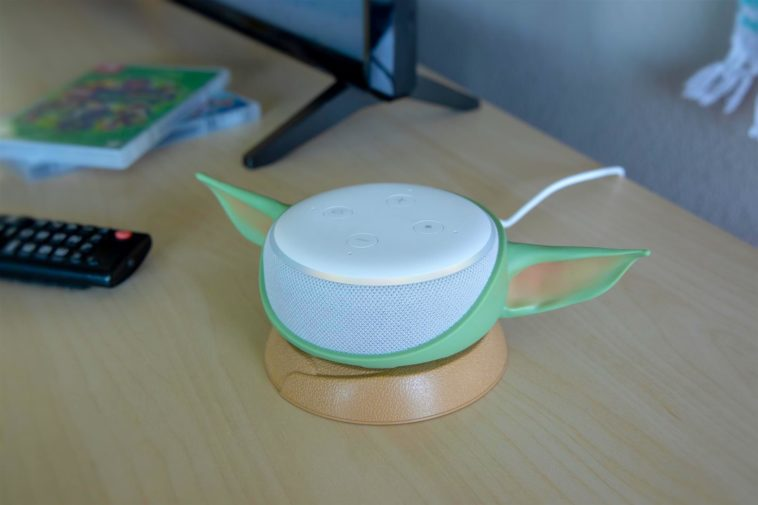Otterbox's Baby Yoda stand transforms the Amazon Echo Dot into The Child 12