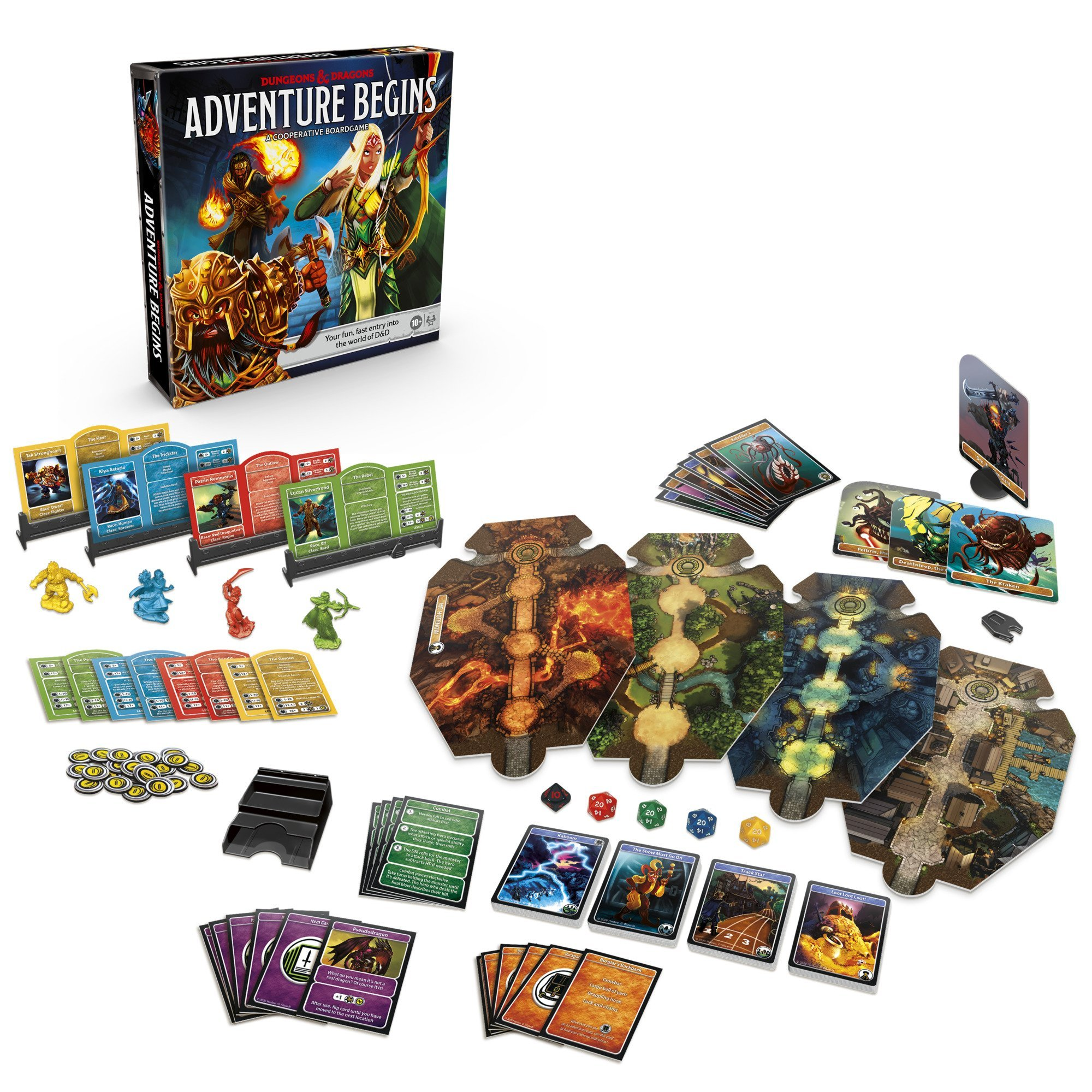 Dungeons & Dragons Adventure Begins board game is designed for newbies 14