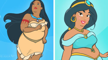 Artist creates body-positive Disney Princesses 11