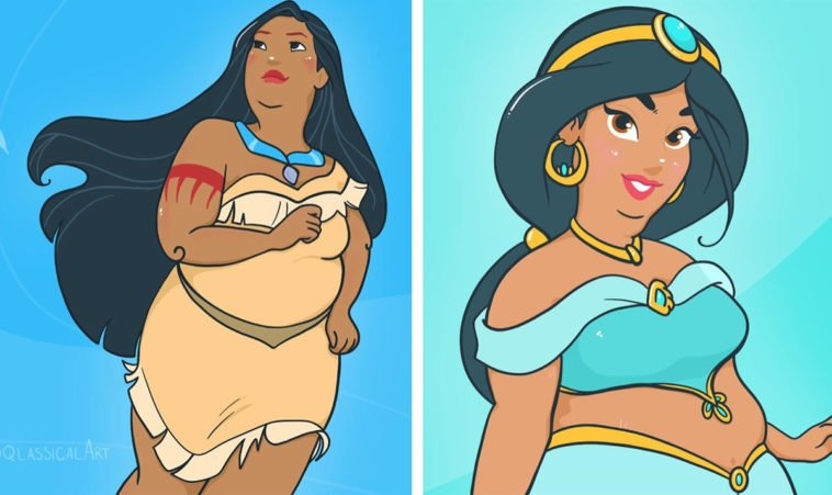 Artist creates body-positive Disney Princesses 12