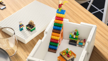 IKEA partners with LEGO for unique storage boxes that double as play structures 12