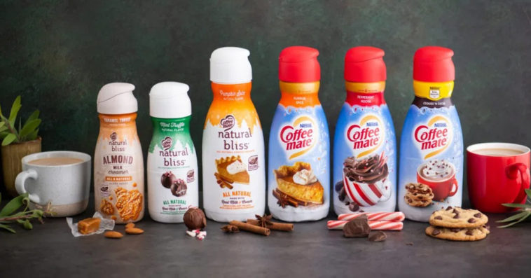 Coffee mate's holiday flavors include Cookies 'n Cocoa, Mint Truffle, and Caramel Toffee 20