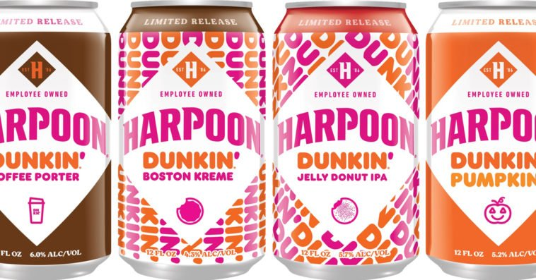 Dunkin' and Harpoon Brewery are releasing donut-infused beers this fall 13