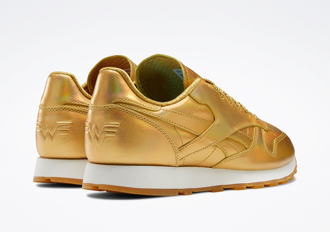 Reebok x Wonder Woman 1984 collection launches with gold classic leather shoes 22
