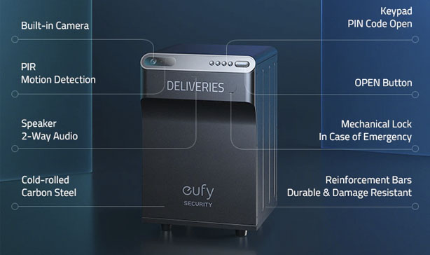 Eufy SmartDrop is a smart package lock box with a built-in camera 13