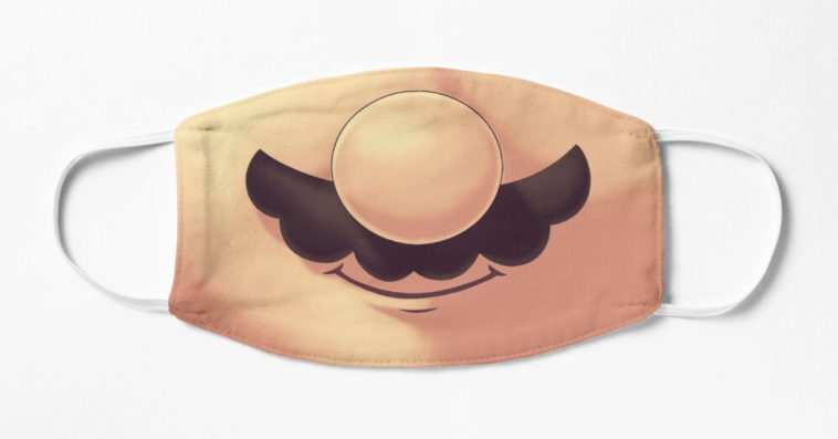 This Super Mario face mask will make people smile back at you 14