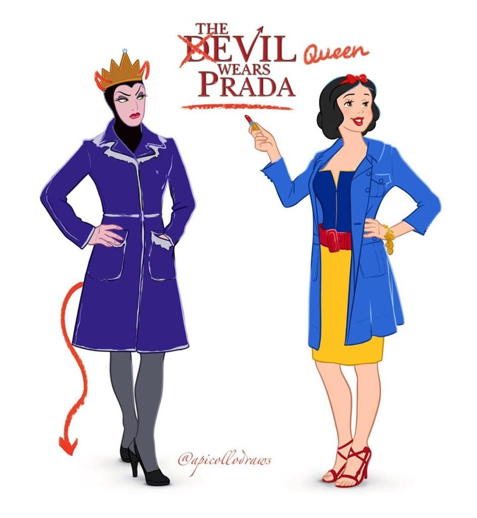 Artist reimagines famous films with Disney Princesses as the leads 16