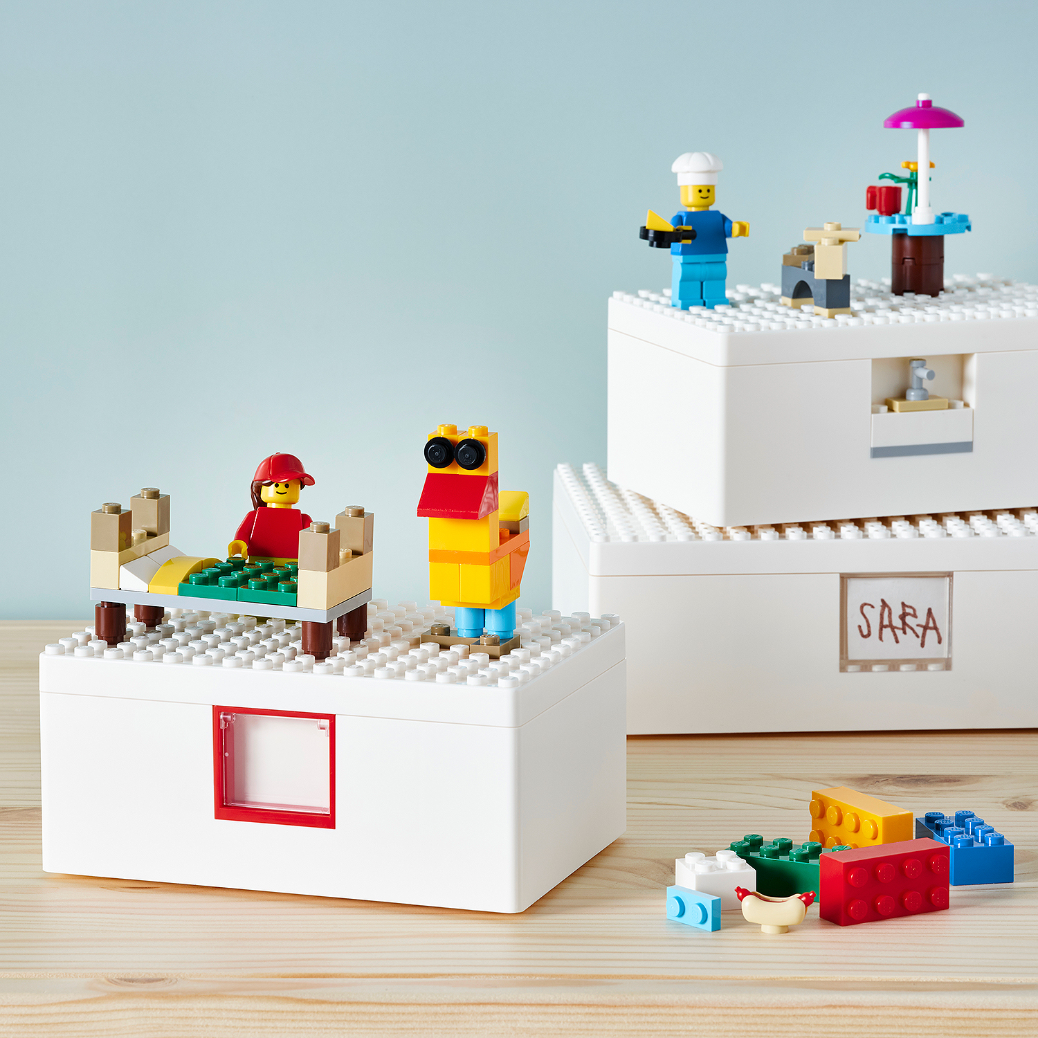 IKEA partners with LEGO for unique storage boxes that double as play structures 15