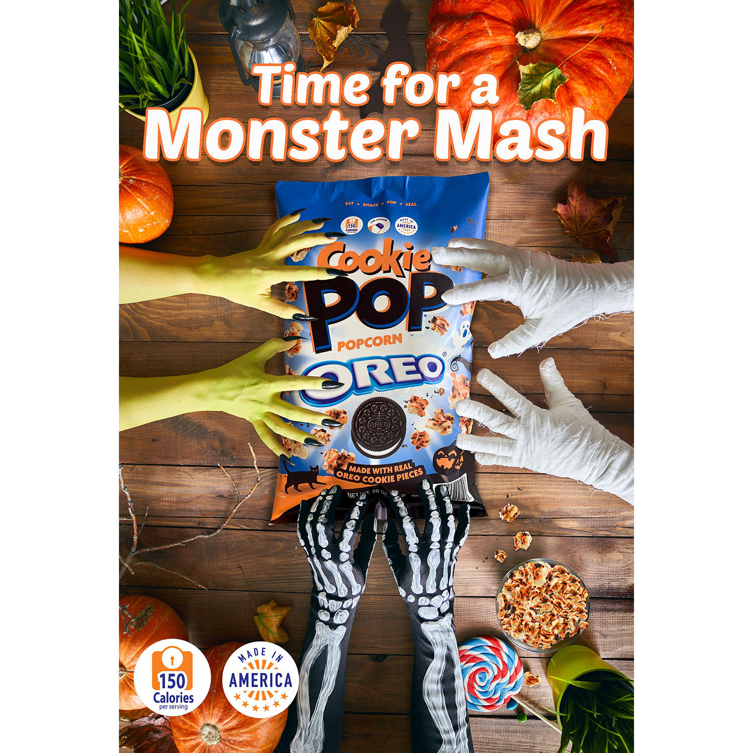 Snack Pop Oreo Cookie Popcorn is back with a fun Halloween twist 12