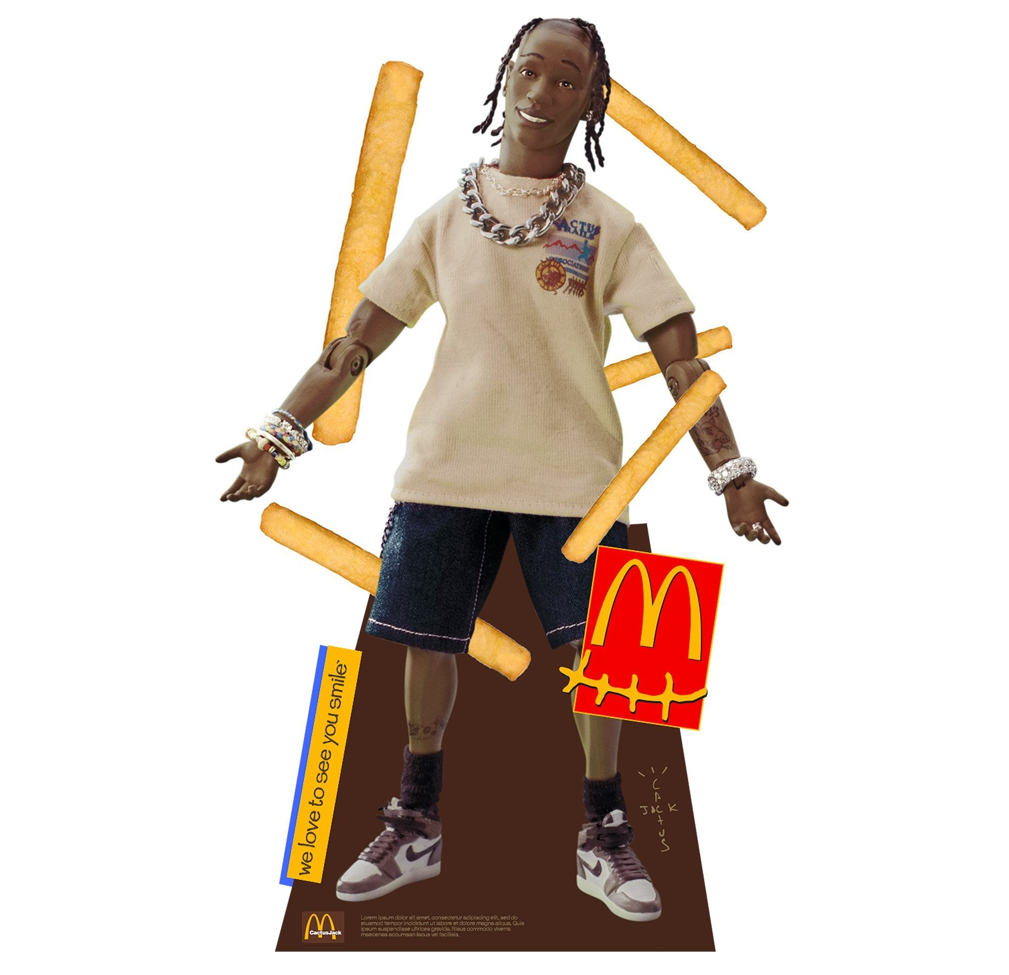 Travis Scott releases McDonald's-themed merch that include a chicken nugget pillow 22