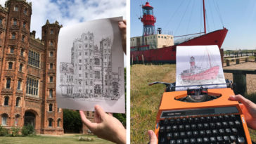 Artist draws with a typewriter and the results belong in a museum 15