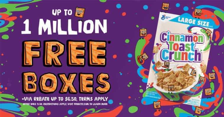 Cinnamon Toast Crunch is giving away 1 million boxes for free ― here's how to get one 12