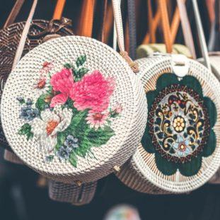 Floral Woven Bag 58