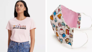 Levi's just dropped a new Hello Kitty collection and it includes face masks 17