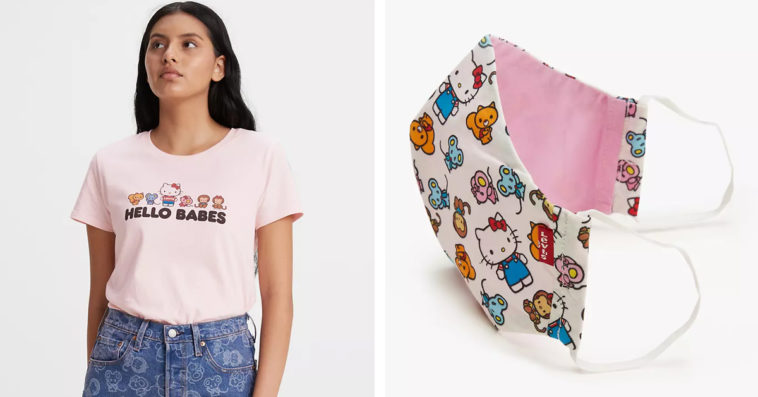 Levi's just dropped a new Hello Kitty collection and it includes face masks 16