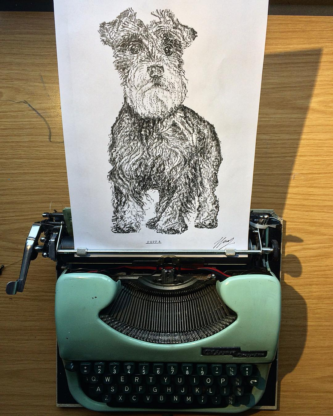 Artist draws with a typewriter and the results belong in a museum 16