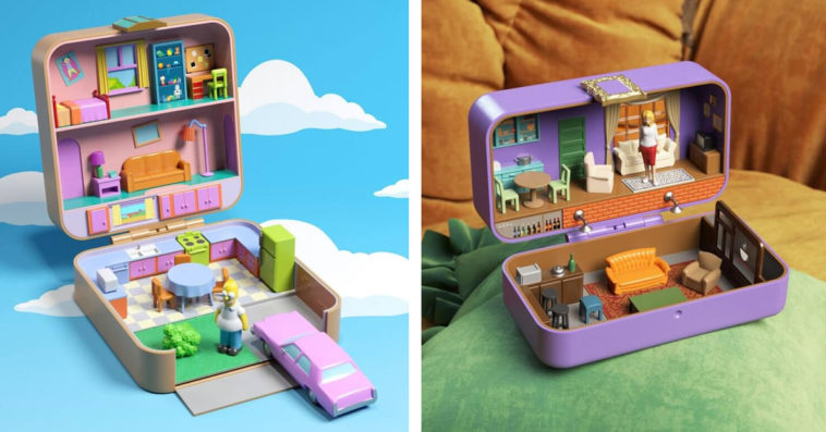 The Simpsons, Friends, and Stranger Things get transformed into Polly Pockets 16