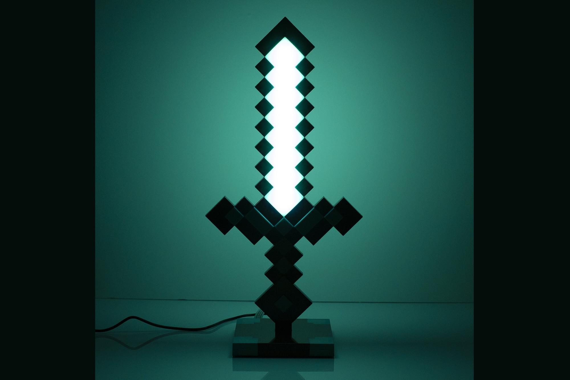 Minecraft Diamond Sword Desk Lamp ($49)
