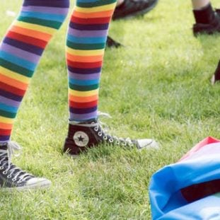 Cheerful Rainbow Socks 51