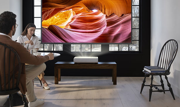 Samsung's 4K Ultra Short Throw Laser Projector doubles as a Smart TV 11