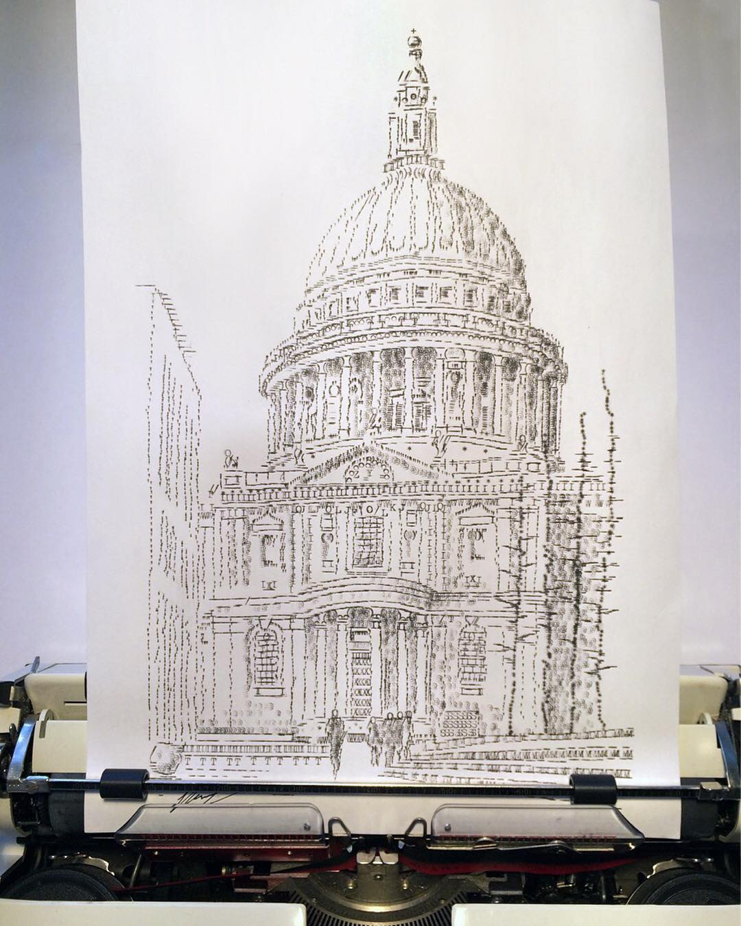 Artist draws with a typewriter and the results belong in a museum 17