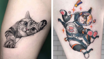 The cutest cat tattoos you'll ever see 17