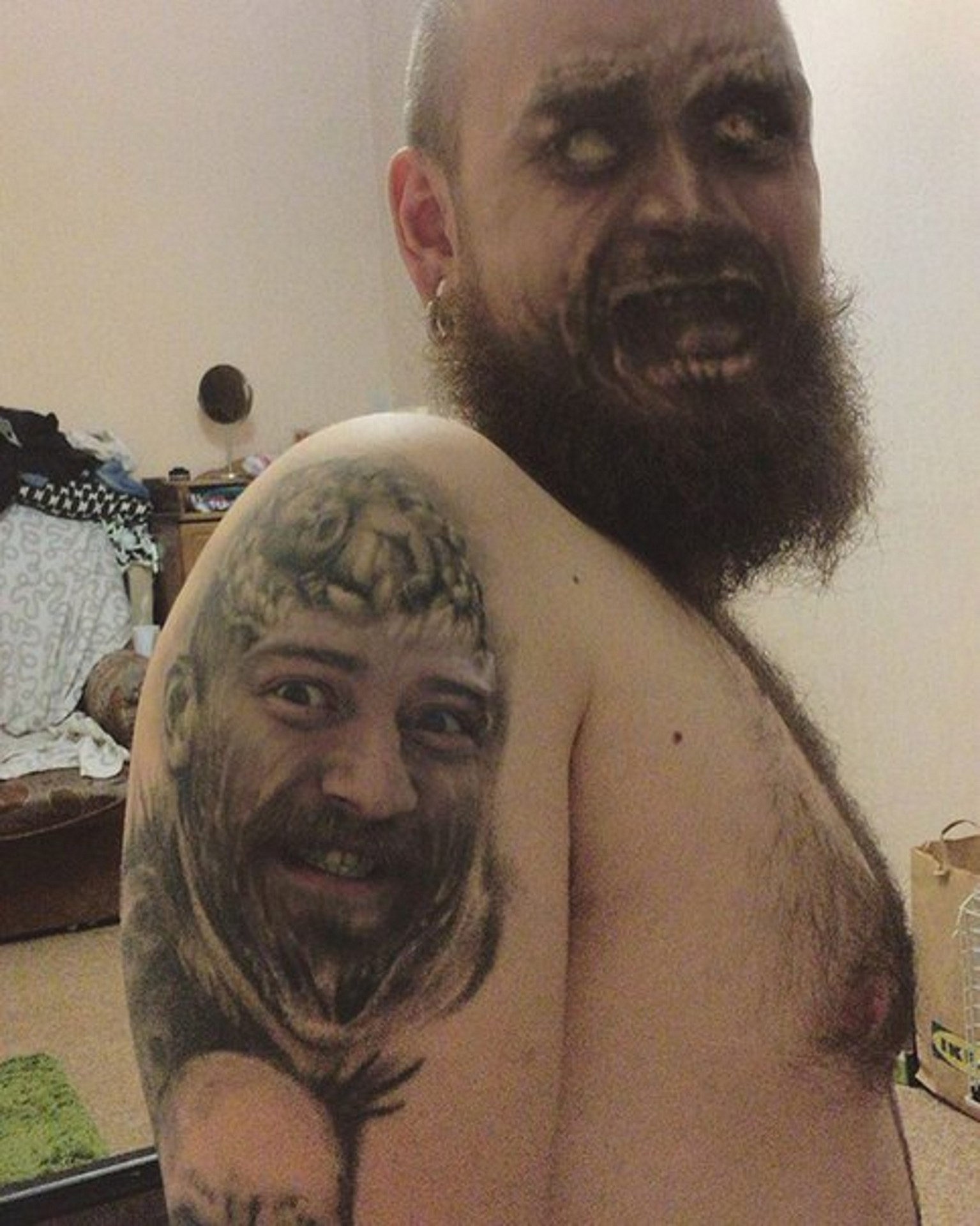 The tattoo face swap trend is taking the Internet by storm and it's as creepy as it sounds 15