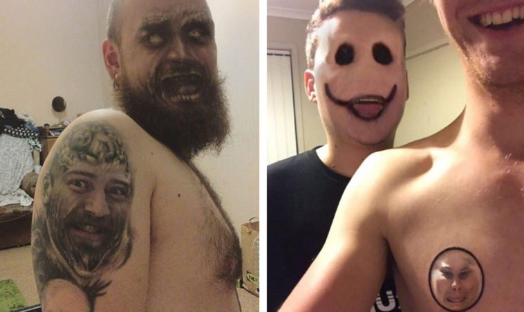The tattoo face swap trend is taking the Internet by storm and it's as creepy as it sounds 13