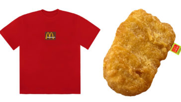 Travis Scott releases McDonald's-themed merch that include a chicken nugget pillow 14