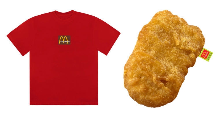 Travis Scott releases McDonald's-themed merch that include a chicken nugget pillow 12