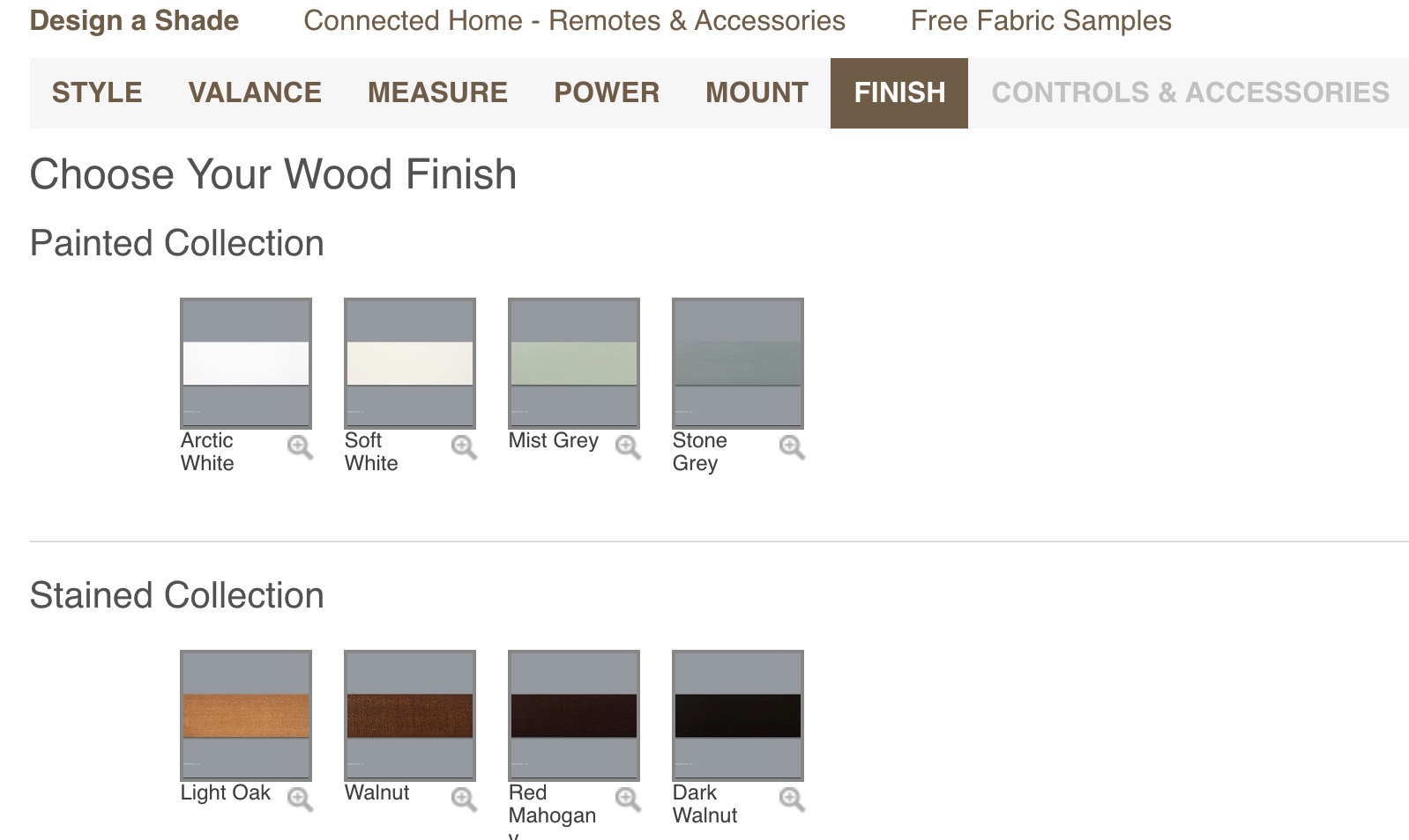 There are plenty of customization options with Serena's Wood Blinds