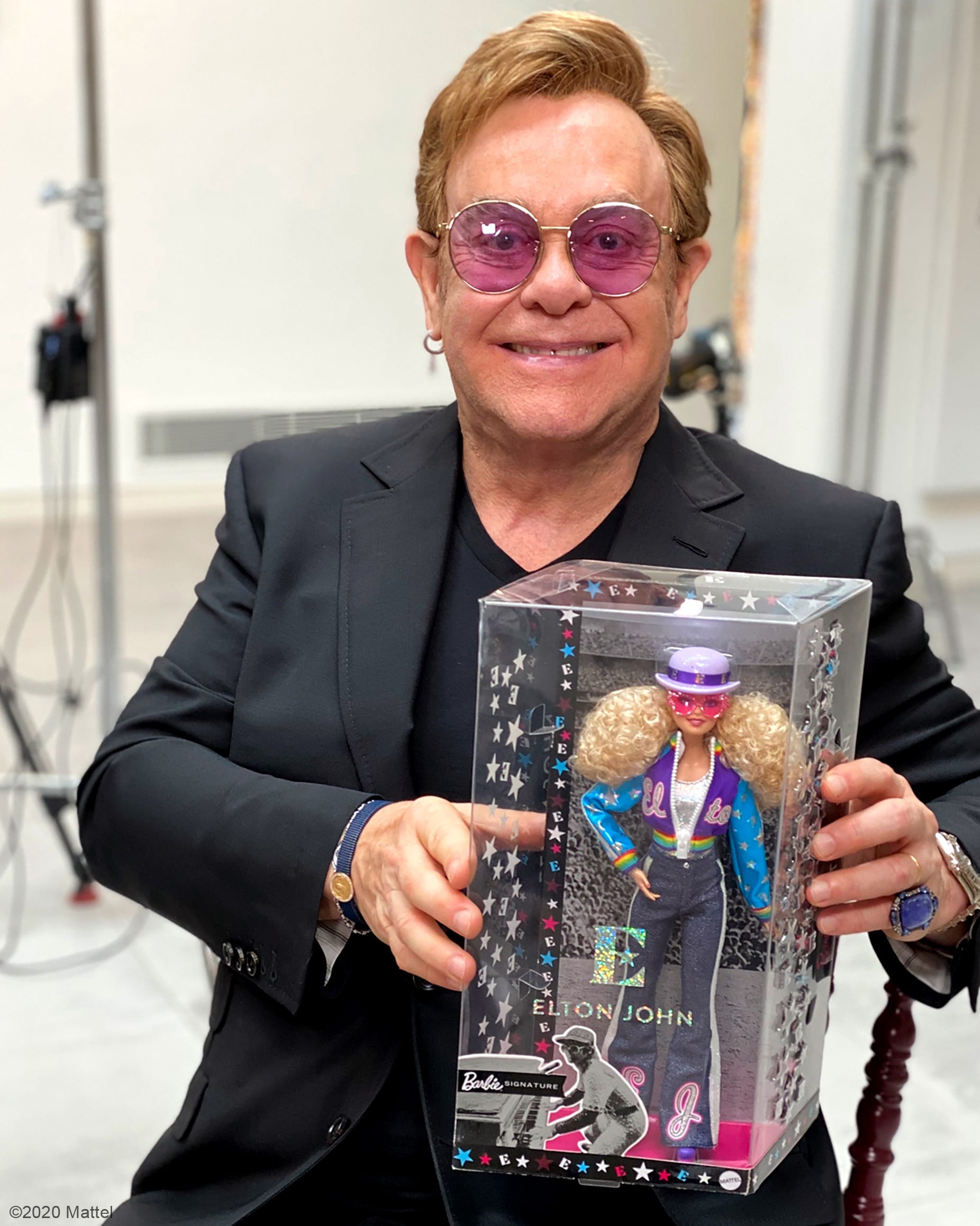 Elton John and his own Barbie Doll