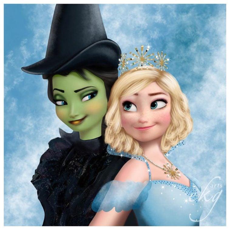 Artist reimagines Disney princesses as witches 12