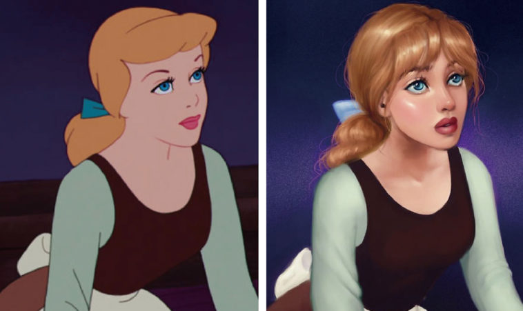 Artist reimagines animated heroines with realistic features 15