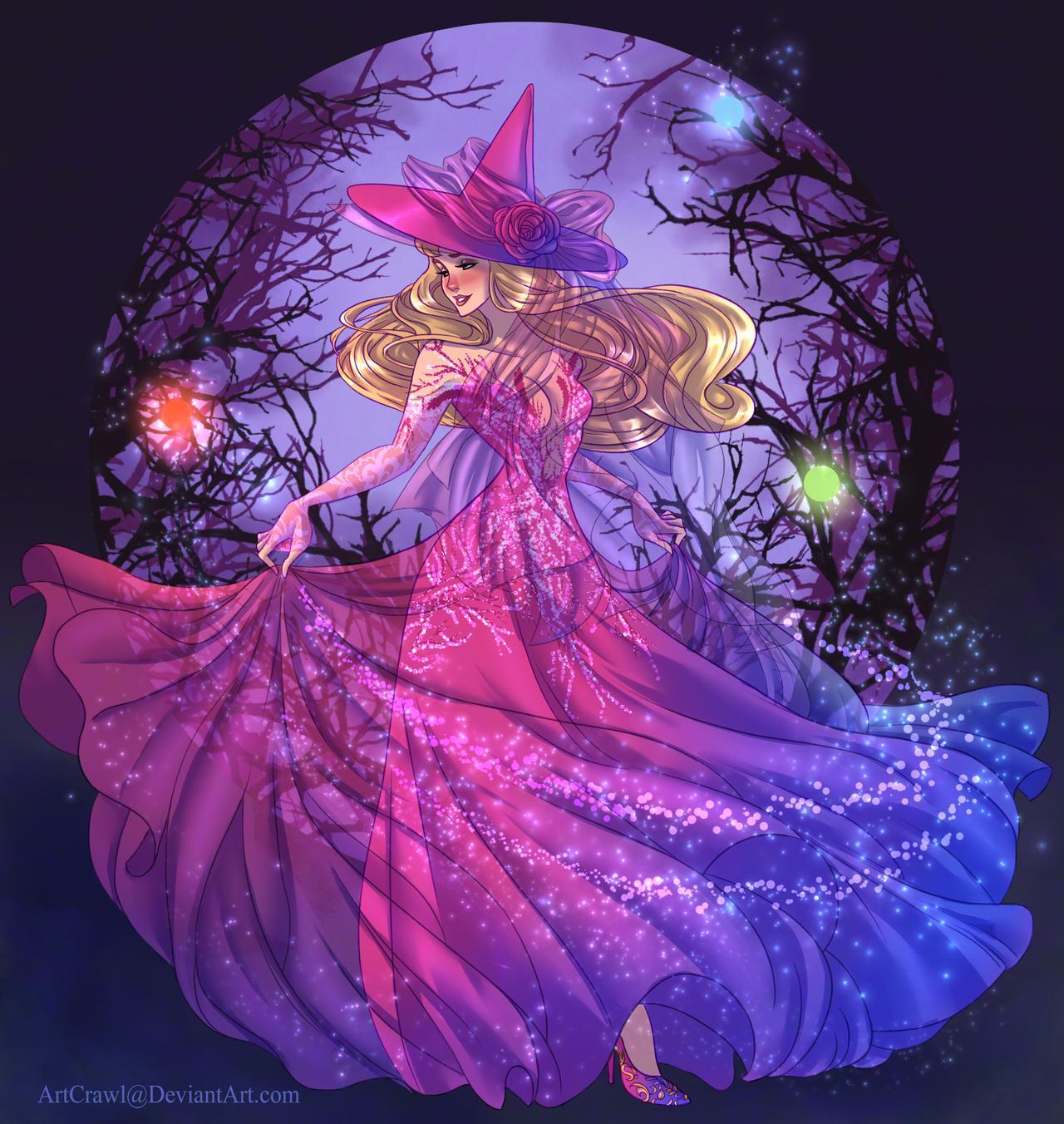 Artist reimagines Disney princesses as witches 16