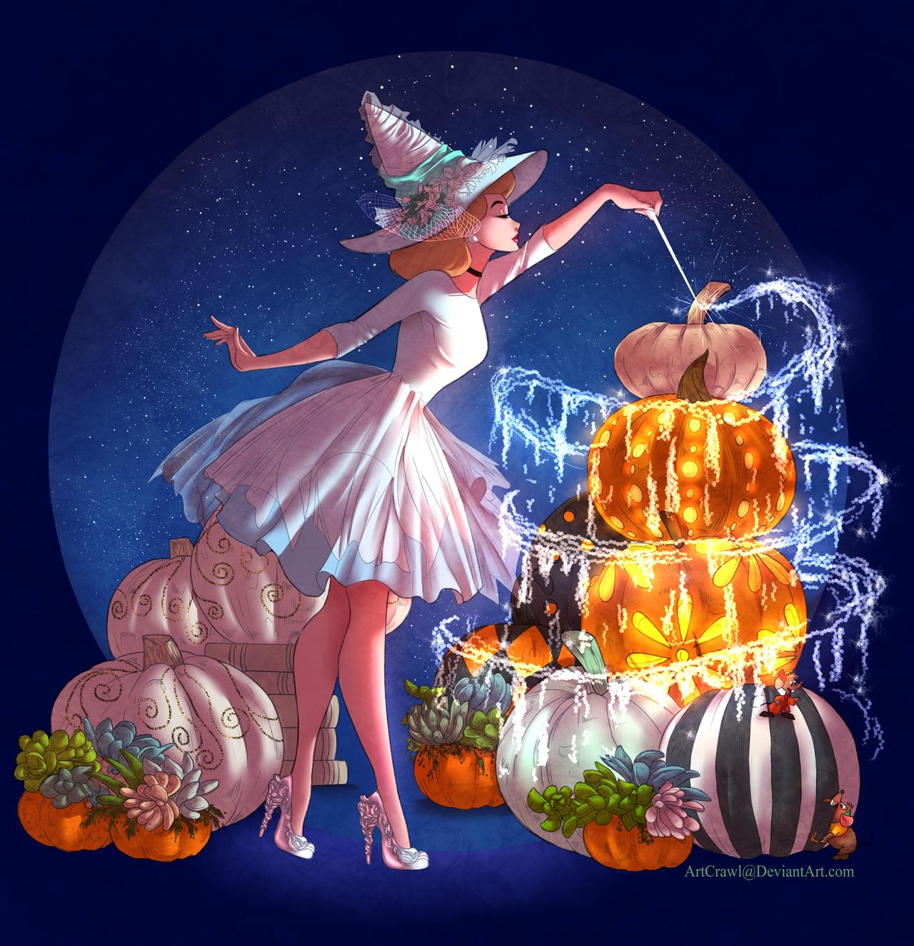 Artist reimagines Disney princesses as witches 11
