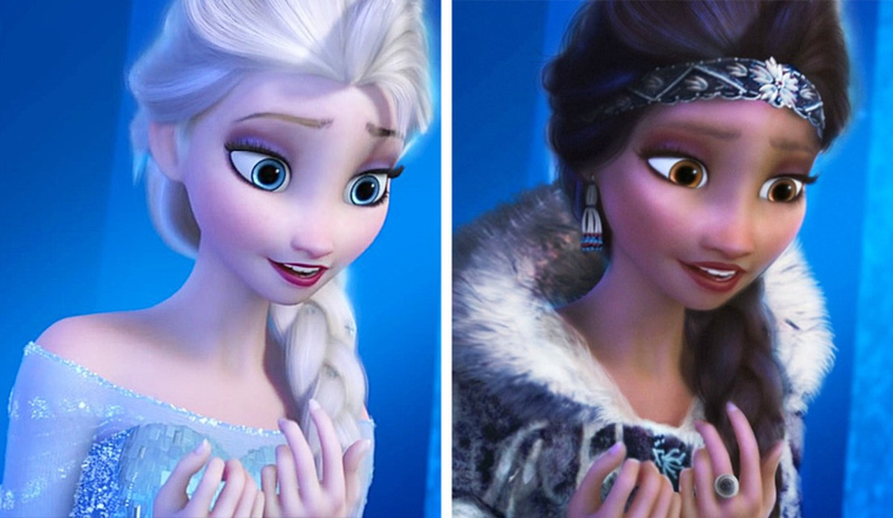 What Disney Princesses would look like if they were different races 14