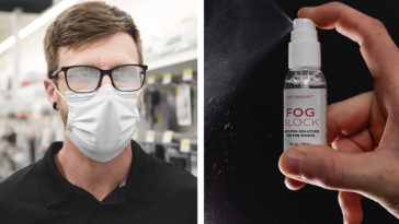 FogBlock spray keeps your glasses fog-free while wearing a face mask 27
