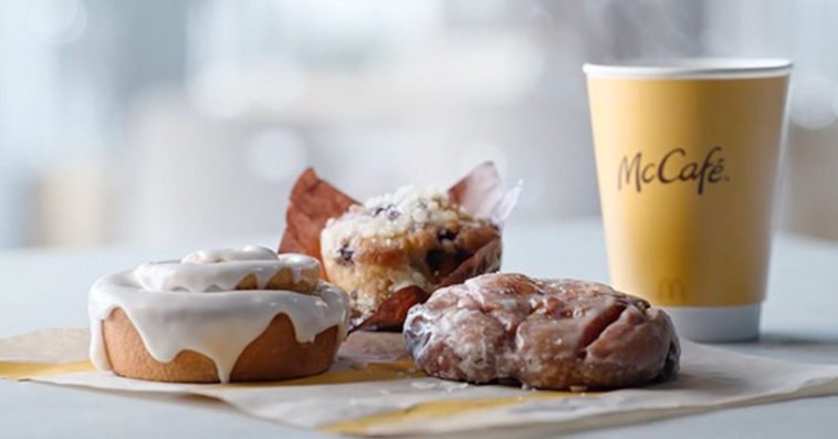 Get McDonald's new apple fritter, blueberry muffin, and cinnamon roll for free 14
