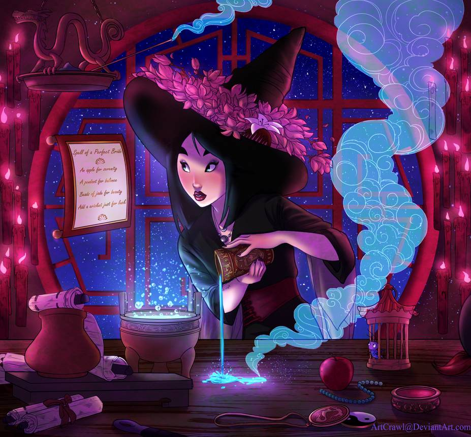 Artist reimagines Disney princesses as witches 11