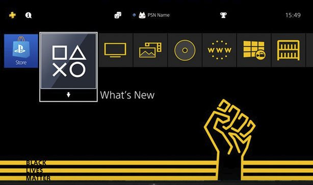 Free PS4 theme shows support for Black Lives Matter 13